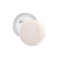 Soft Peach Pinstripe on White 1.75  Buttons