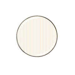Soft Peach Pinstripe on White Hat Clip Ball Marker (10 pack)