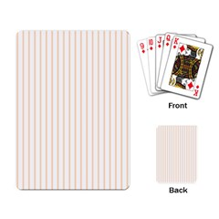 Soft Peach Pinstripe on White Playing Card