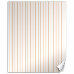 Soft Peach Pinstripe on White Canvas 16  x 20