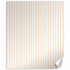 Soft Peach Pinstripe on White Canvas 20  x 24