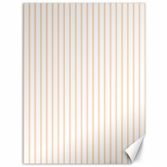 Soft Peach Pinstripe on White Canvas 36  x 48