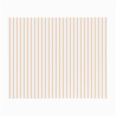 Soft Peach Pinstripe on White Small Glasses Cloth (2-Side)