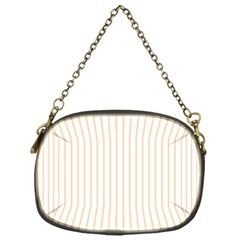 Soft Peach Pinstripe on White Chain Purses (One Side)