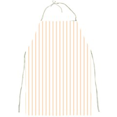 Soft Peach Pinstripe on White Full Print Aprons