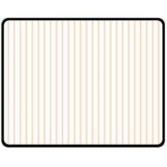 Soft Peach Pinstripe on White Fleece Blanket (Medium)