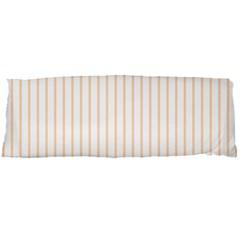 Soft Peach Pinstripe On White Body Pillow Case Dakimakura (two Sides)