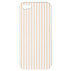 Soft Peach Pinstripe on White Apple iPhone 5 Hardshell Case