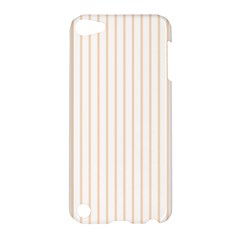 Soft Peach Pinstripe on White Apple iPod Touch 5 Hardshell Case