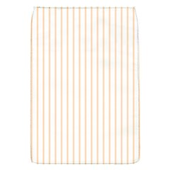 Soft Peach Pinstripe on White Flap Covers (S)
