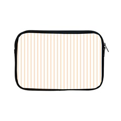 Soft Peach Pinstripe on White Apple iPad Mini Zipper Cases