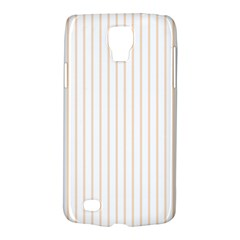 Soft Peach Pinstripe on White Galaxy S4 Active