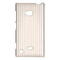 Soft Peach Pinstripe On White Nokia Lumia 720