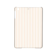 Soft Peach Pinstripe on White iPad Mini 2 Hardshell Cases