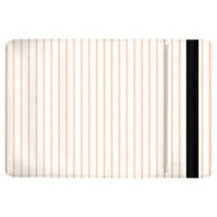 Soft Peach Pinstripe on White iPad Air 2 Flip