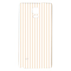 Soft Peach Pinstripe on White Galaxy Note 4 Back Case