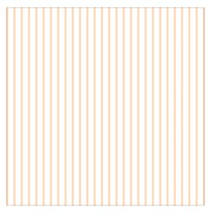 Soft Peach Pinstripe on White Large Satin Scarf (Square)