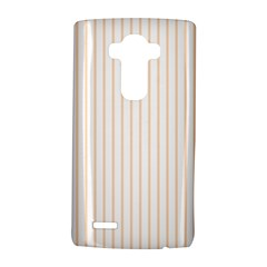 Soft Peach Pinstripe on White LG G4 Hardshell Case