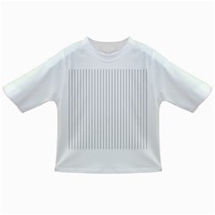 Dove Grey Pin Stripes on White Infant/Toddler T-Shirts