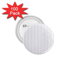 Dove Grey Pin Stripes on White 1.75  Buttons (100 pack)