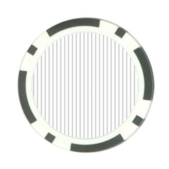 Dove Grey Pin Stripes on White Poker Chip Card Guard