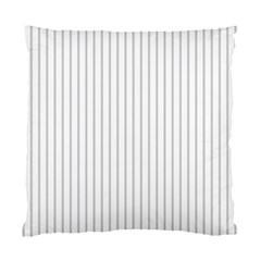 Dove Grey Pin Stripes on White Standard Cushion Case (One Side)
