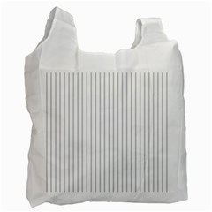 Dove Grey Pin Stripes on White Recycle Bag (One Side)