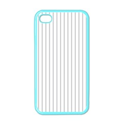 Dove Grey Pin Stripes on White Apple iPhone 4 Case (Color)