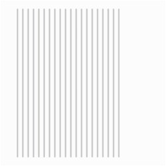 Dove Grey Pin Stripes on White Small Garden Flag (Two Sides)