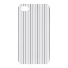 Dove Grey Pin Stripes on White Apple iPhone 4/4S Premium Hardshell Case