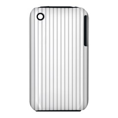 Dove Grey Pin Stripes on White iPhone 3S/3GS