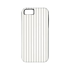 Dove Grey Pin Stripes on White Apple iPhone 5 Classic Hardshell Case (PC+Silicone)