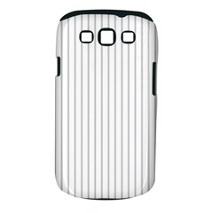 Dove Grey Pin Stripes on White Samsung Galaxy S III Classic Hardshell Case (PC+Silicone)