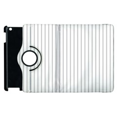 Dove Grey Pin Stripes on White Apple iPad 2 Flip 360 Case