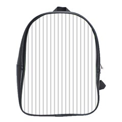 Dove Grey Pin Stripes on White School Bags (XL)