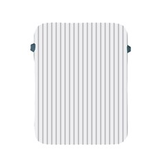 Dove Grey Pin Stripes on White Apple iPad 2/3/4 Protective Soft Cases