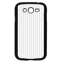 Dove Grey Pin Stripes on White Samsung Galaxy Grand DUOS I9082 Case (Black)