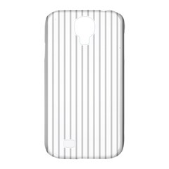 Dove Grey Pin Stripes on White Samsung Galaxy S4 Classic Hardshell Case (PC+Silicone)