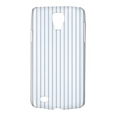Dove Grey Pin Stripes on White Galaxy S4 Active