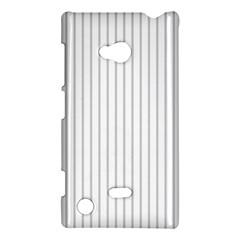 Dove Grey Pin Stripes on White Nokia Lumia 720