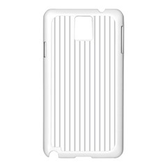 Dove Grey Pin Stripes on White Samsung Galaxy Note 3 N9005 Case (White)