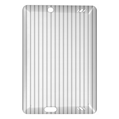 Dove Grey Pin Stripes on White Amazon Kindle Fire HD (2013) Hardshell Case