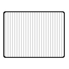 Dove Grey Pin Stripes on White Double Sided Fleece Blanket (Small)