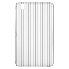 Dove Grey Pin Stripes on White Samsung Galaxy Tab Pro 8.4 Hardshell Case
