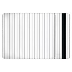 Dove Grey Pin Stripes on White iPad Air Flip