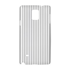 Dove Grey Pin Stripes on White Samsung Galaxy Note 4 Hardshell Case