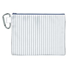 Dove Grey Pin Stripes on White Canvas Cosmetic Bag (XXL)