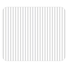 Dove Grey Pin Stripes on White Double Sided Flano Blanket (Small)