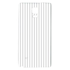 Dove Grey Pin Stripes on White Galaxy Note 4 Back Case