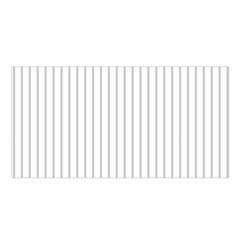 Dove Grey Pin Stripes on White Satin Shawl